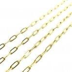 7x3mm aukso sp. nerūdijančio plieno lituota grandinėlė, 1m