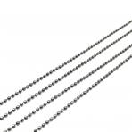 1,5x1,5mm juodintos sp. grandinėlė, 1m