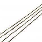 1,5x1,5mm žalvario sp. grandinėlė, 1m