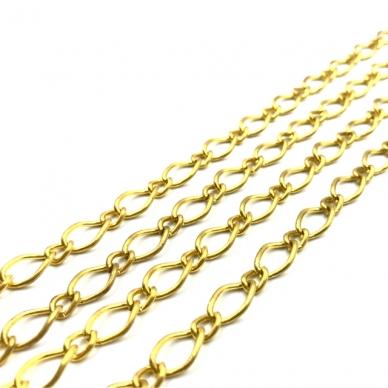 10x7mm aukso sp. grandinėlė, 1m