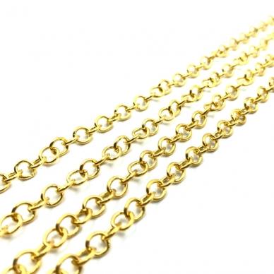 5x5mm aukso sp. grandinėlė, 1m