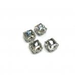 8mm crystal sp. kristalai sidabro sp. rėmeliuose, 4vnt