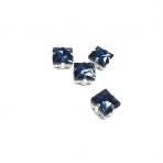 8mm indigo sp. kristalai sidabro sp. rėmeliuose, 4vnt