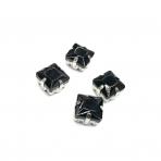 8mm juodos sp. kristalai sidabro sp. rėmeliuose, 4vnt