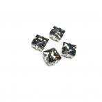 8mm pilkos sp. kristalai sidabro sp. rėmeliuose, 4vnt