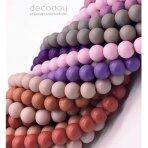 8mm stiklinių perlų 10 juostų mix, pasteliniai-matiniai
