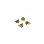 12x17mm aukso sp. pakabukų laikikliai, 16vnt.