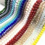 8x10mm rondelle formos mix spalvų juostos, 10 juostų