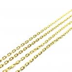 3x2mm aukso sp. grandinėlė, 1m